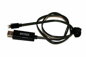 Bytecc IP-FLKG Flowing Green LED Charge and Sync Cable with Lightning Connector