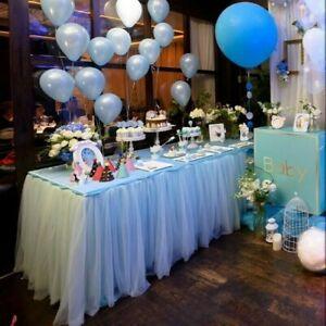 Tutu Tulle Table Skirt Tablecloth Wedding Birthday Party Baby Cute Romantic Deco