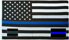 Wholesale 3x5 Police USA Thin Flag Decal Sticker Thin Blue Line Lapel Pin Set 3
