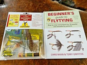 New Veniard Beginners Guide to Fly Tying Materials Pack Kit & Book