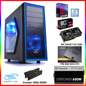 Gaming PC Intel Core i7 9700K, Graphics Card 8GB, 16GB RAM, 1TB SSD, 650W, WIFI