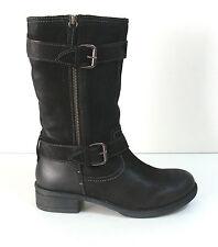 Wadenhohe Damen-Stiefel aus Echtleder mit Reißverschluss für die Freizeit