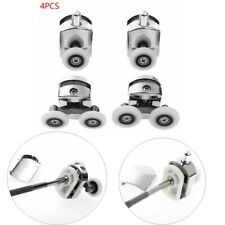 2Pcs Single Wheel+2Pcs Double Wheel Shower Door Rollers Runners Pulleys for Door