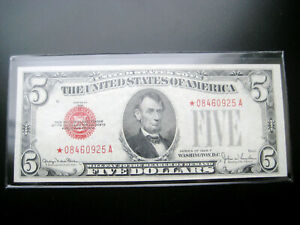 WOW RARE $5 1928 F***STAR***UNITED STATES NOTE CHOICE NICE XF/AU NOTE