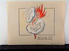 Rare Concept art atrributed to Chuck Jones from Pogo short ca.1969