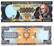 Equateur ECUADOR BILLET 20000 Sucres 1999 P129 DR MORENO UNC NEUF