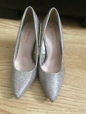 New Look Champaign Gold Sparkling/Glittery High Heel Shoes, Size 5 (38) - Used