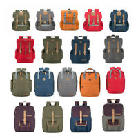 Waterproof Hiking Camping Bag Travel Backpack Outdoor Canvas PU school Casual