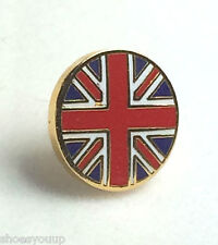 Small Round Union Jack Quality enamel lapel pin badge