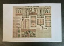 Repro antique French BLUEBEARD'S CASTLE Epinal Print architectural model fold-up