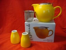 BEVANDE MAIZE YELLOW 500ml TEAPOT WITH INFUSER & TWO CREAMERS SET BRAND-NEW