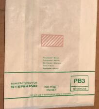 BAG PAPER HEAT SEALABLE STERIKING 120 x 50 x 250mm PB3 Pack With 50 Units