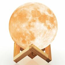 Ehobroc Moon Lamp, 3D Printing Moon Globe Light 5.9 Inch Glowing Moon Lamp Tap