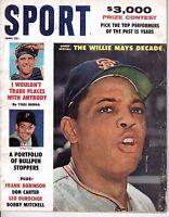 1961 (June) SPORT magazine Baseball Willie Mays San Francisco Giants, Yogi Berra