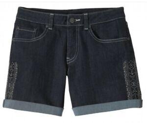prAna Kara Jeans Denim Shorts Elastic Jeans Shorts for Ladies Denim SIZE S/M