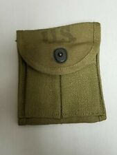 """ORIGINAL US GI WWII M1 CARBINE KHAKI STOCK POUCH """"VICTORY"""" DATED 1943"""""""