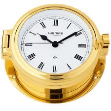 Wempe Chronometer Horloge de Yacht hublot Coupe laiton Ø 140mm chiffres Romains