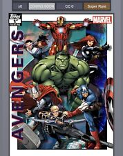 Topps Marvel Collect Avengers 1st Printing Set WITH AWARD (13 Cards) Digital