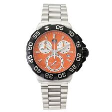 ORIGINAL TAG HEUER FORMULA 1 CAH1113.BA0850 ORANGE CHRONOGRAPH STEEL SWISS WATCH