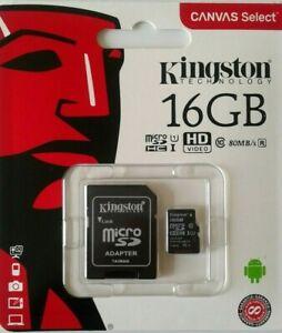 Kingston Canvas Select- Micro SDHC/SDXC 16GB Memory Card