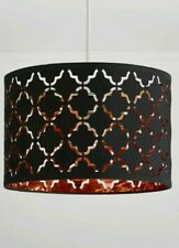 Laser Cut 20X30cm Black & Copper Ceiling Pendant SHADE Lampshade HOME Decor Hang