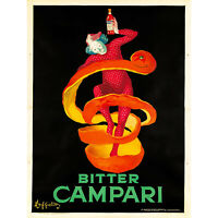ADVERTISING BITTER CAMPARI. 1921 FINE ART PRINT POSTER 30X40 CM 12X16 IN HOME DE