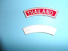 b8656 US Vietnam Novelty Patch Thailand Tab white on red