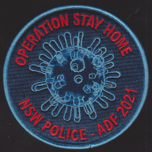 Operation Stay Home NSW Police & ADF 2021  patch