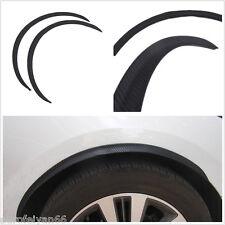 Black Carbon Fiber Autos Fender Flare Wheel Eyebrow Protector Anti-Scratch Decal