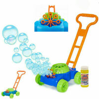 BUBBLE MACHINE KIDS LAWN MOWER BUBBLES BLOWER GARDEN PARTY SUMMER FUN TOY GIFT