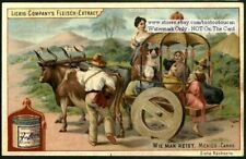 Mexican Ox Drawn Carro Cart NICE c1898 Ad Trade Card