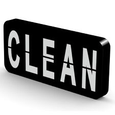 Reversible Double Sided Clean Dirty Dishwasher Magnet-Super Strong & Waterproof