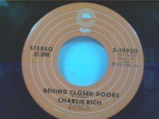 """CHARLIE RICH """"BEHIND CLOSED DOORS / A SUNDAY KIND OF WOMAN"""" 45"""