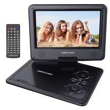 DBPOWER 9.5'' Tragbarer DVD-Player 5 Stunden Akku Schwenkbarer Bildschirm USB/SD