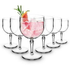 RB Large Gin Balloon Cocktail Glasses Premium Plastic Unbreakable Reusable 60cl,