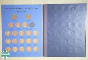 1959-1992 LINCOLN MEMORIAL CENT COLLECTION WHITMAN FOLDER #9000 WITH COINS