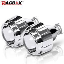 2X HID Projector Bi Xenon Headlight Lens LED Angel Eyes White H4 H7 Retrofit LHD