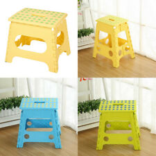 PLASTIC FOLDING STEP STOOL STRONG COLLAPSIBLE FOLDABLE MULTIPURPOSE STOOLS