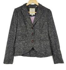 Jack Wills UK Women's Blazer Size UK 12 US 8 100% Wool Jacket Coat Heather