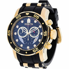InvictA 6981 black PRO DIVER 100m Yellow Gold Ret.$895 Brand NEW