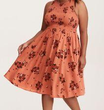4f3276097d Torrid Multi-color Floral Print Smocked Challis Midi Dress 00x  58909