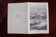 ✒ ca.1930 Achille ALLIER Vieux Montluçon (1830) imprimé Marcel SERVANT - MENU