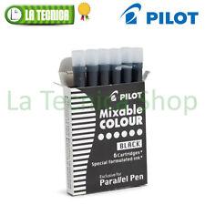 PILOT Cartucce Refill per PARALLEL PEN colore NERO BLACK | 6 pezzi ORIGINALI