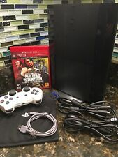 Sony PlayStation 3 1TB HDD Slim PS3 Console CECH-4001B White DualShock Red Dead!
