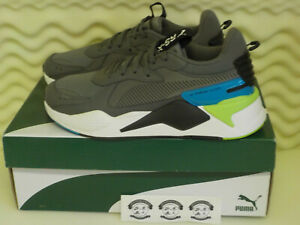 Puma RS-X PTNT - 37229204 060 - Castlerock Gray / Blue / Green - Mens Shoe Sz 12