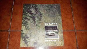 Prospekt Broschüre Werbung Peugeot 504 Stufenheck L Gl Ti Italienisch 1974
