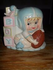 VINTAGE RUBENS BABY PLANTER BOY FOOTBALL PLAYER 593 JAPAN