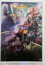 SDCC Comic Con 2018 handout Sideshow HOT TOYS AVENGERS INFINITY WAR Poster