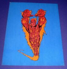 """The Human Torch Poster (1970, Marvel Super-Heroes MMMS) 15"""" x 19"""" Jack Kirby Art"""