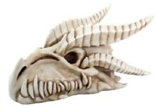 Small Dragon Skull with Horns Figurine Statuette Fairy Tale Fantasy Mythical New